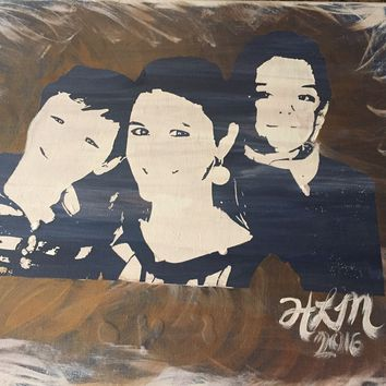 Customized Hand Painted Abstract Portraits 3-5 Colors