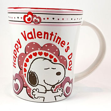 Happy Valentines Day Coffee Mug Snoopy Cup 14 oz Gibson Hearts Love Holiday k436