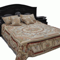 Tache King 5 Piece Plush Chenille Roman Garden Bed Spread