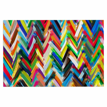 "Frederic Levy-Hadida ""Chevrons"" Rainbow Decorative Door Mat"