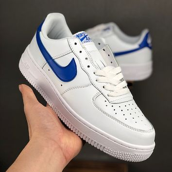 Nike Air Force 1 07 Low White Blue Casual Shoes - Best Deal Online