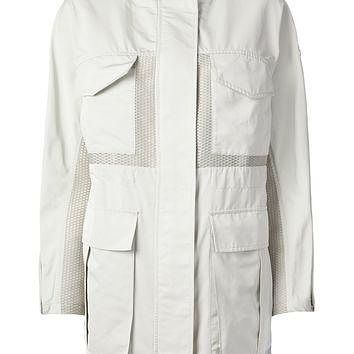 Moncler Gamme Rouge Mesh Panelled Field Coat