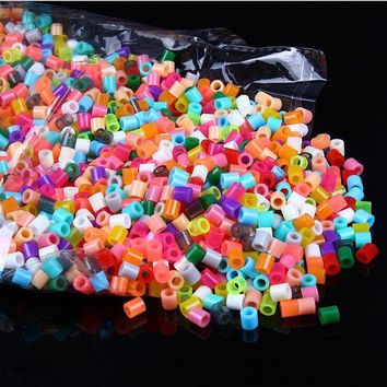 1000pcs/bag 2.6mm Mini Hama Beads Perler Beads Activity Fuse Beads Puzzle Education Kid Diy Toy Craft Pegboard