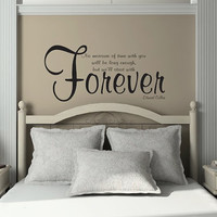 Wall Decal Quote No Measure of Time - Wall Sticker - Wall Vinyl - Edward Cullen - Twilight -
