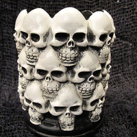 Multi Skull Pillar Candle Holder