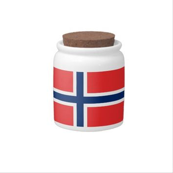 Norway Flag on Candy Jar