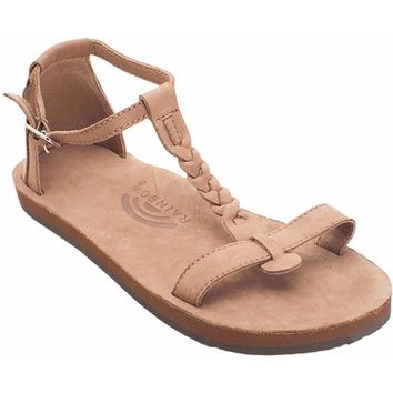 Women's Calafia Single Layer with Back Buckle Heel in Dark Brown by Rainbow Sandals