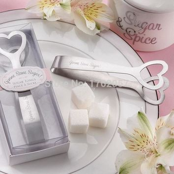 pcs  Stainless  steel  heart  shaped  candy  Wedding
