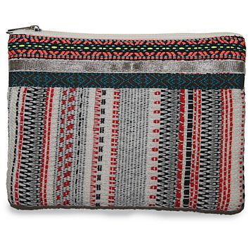 Handloom Fabric Zippered Pouch