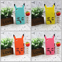 3D Cute Colorful Pikachu Cartoon Pokemon Silicone Case Cover For iPhone 4 4S