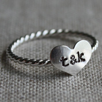 true love ring sterling silver and stamped with by amycornwell