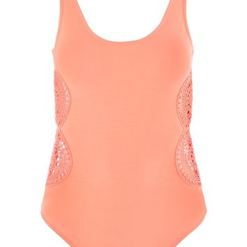 Crochet Detailed Body - Tops - Clothing