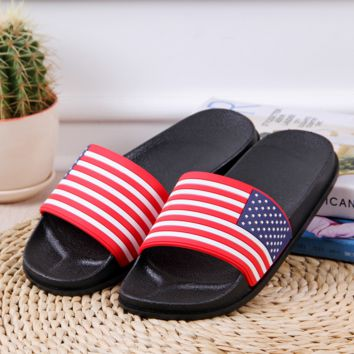 American Flag Indoor Bathroom Home Slippers