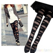 Women Sexy Pantyhose Black Ripped Stretch Vintage Tights Legging Mock Stocking = 1932866820