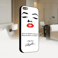 Marilyn Monroe quotes - Photo on Hard Cover For Iphone 4 / 4S Case, iPhone 5 Case - Black, White, Clear