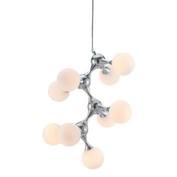 Pomegranate Ceiling Lamp White & Chrome