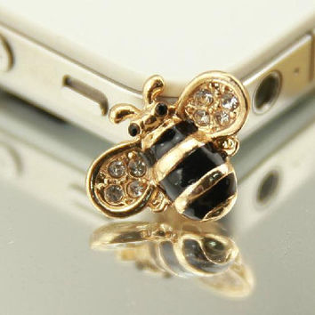 Kawaii little bee & Phone Case Deco Den Cabochon Alloy Accessories For Phone Case Deco Den