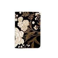 Floral Flower Customized Cute Leather Passport Holder - Passport Covers - Passport Wallet_SUPERTRAMPshop