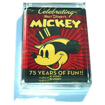 Acrylic Mickey Mouse 75the celebration Paperweight