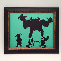 Monsters Inc. paper cut - Framed