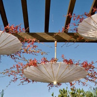 Wedding Parasols Upside Down Hanging Floral by ABridalConnection
