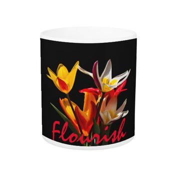 Tulip Flowers - Flourish Dark Coffee Mug