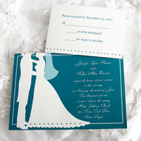 wedding invitations blue and white with no names - Google Search