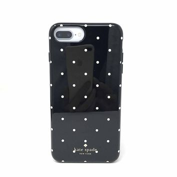Kate Spade New York Larabee Dot Protective Rubber Case For iPhone 7 Plus & iPhone 6 Plus - Black/Cream