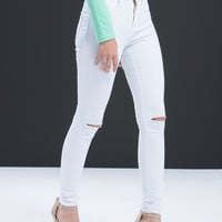 Slitting Pretty High-Waisted Jeans GoJane.com