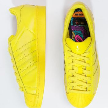 """Adidas"" Shell-toe Sneakers Sport Shoes Pure Color Flats Candy Yellow"