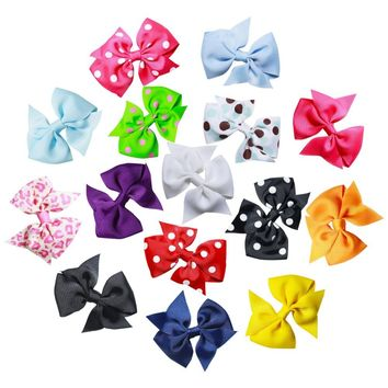 15pcs 3 inch hair bows grosgrain ribbon