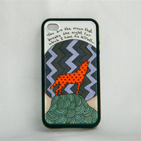 Have to Howl, iPhone case, iPhone cover, iPhone 4/4s, Florence and the Machine, Howl lyrics, wolf, moon, polka dots, hipster, hand drawn
