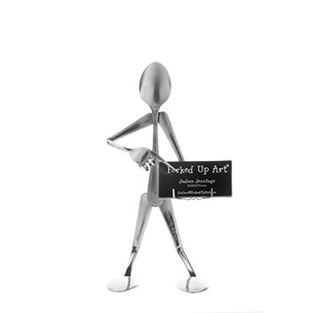 Forked Up Art S04 Spoon Business Card Holder