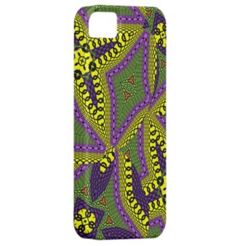Modern Bright Bold Abstract Pattern Mix Apple Iphone5 Case