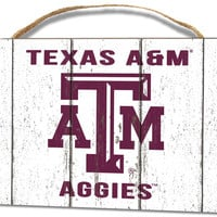 Texas A&M Aggies Small Plaque - Weathered Logo