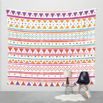 NATIVE BANDANA Wall Tapestry by Nika | Society6