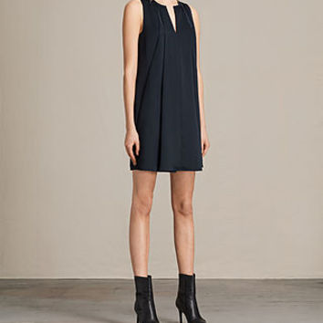 ALLSAINTS US: Womens Bea Dress (Midnight Blue/Blk)