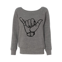 Hang Loose Wideneck Sweatshirt