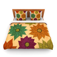 "Pom Graphic Design ""Color Me Floral"" Lightweight Duvet Cover"