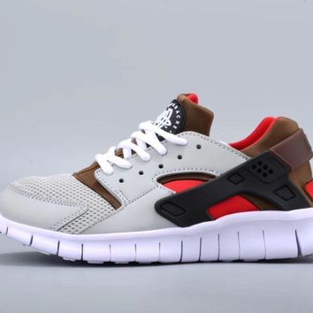One-nice™ NIKEFree Running Huarache Running Sport Casual Shoes Sneakers Grey Brown Red I-CSXY