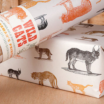 Wild Cats Wrapping Paper / 12 Sheets