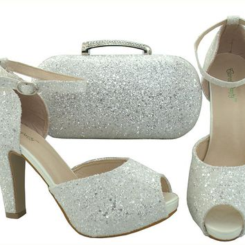 """BLING"" Heel and Handbag Set (Italian Style)"