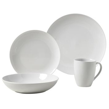 Collins 16pc Round Porcelain Dinnerware Set | Overstock.com Shopping - The Best Deals on Casual Dinnerware