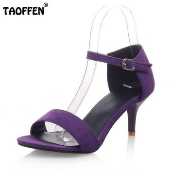 Women High Heels Sandals T-Stage Classic Dancing Heeled Sandals Sexy Stiletto Party We