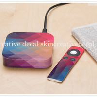 rainbow  decal apple TV skin decal stickers protector cover skins