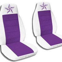 nautical star**CAR SEAT COVERS WHITE-PURPLE SOFT&COOL