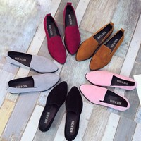 Womens Slip On Flat Casual Solid Fashion Loafer Female Shoes