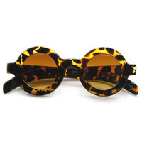 Trendy Blogger Womens Fashion Thick Round Sunglasses 8980