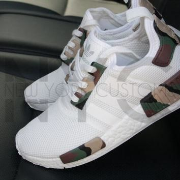 Camo Adidas NMD Runner Triple White Custom Men