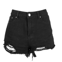 Emma Extreme Frayed Low Rise Denim Hotpant